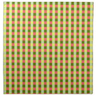Watermelon Check napkins cloth
