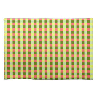 Watermelon Check placemat cloth