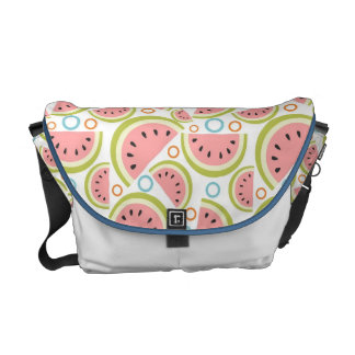 Watermelon Circles Courier Bag