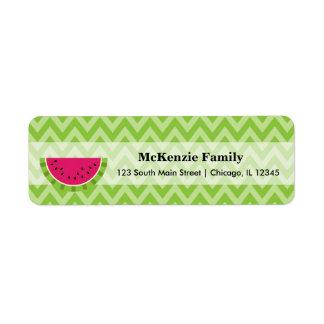Watermelon color return address label
