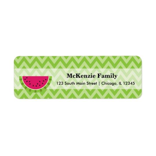 Watermelon colour return address label