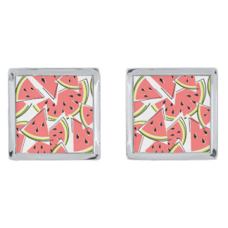 Watermelon cufflinks silver finish cufflinks