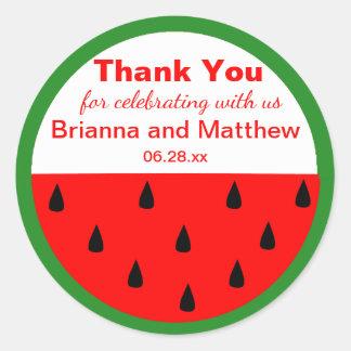 Watermelon Custom Summer Wedding Thank You Sticker