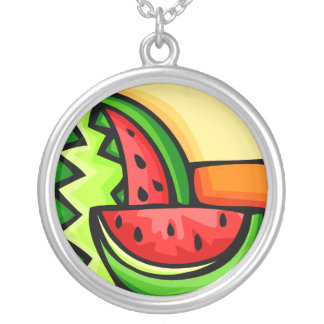 Watermelon Day August 3 Round Pendant Necklace