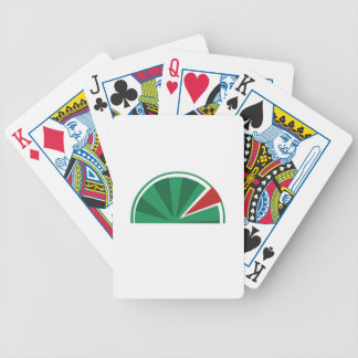 watermelon design bicycle playing cards