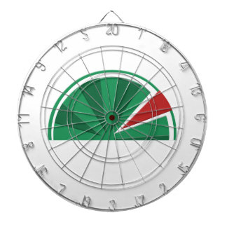 watermelon design dartboard