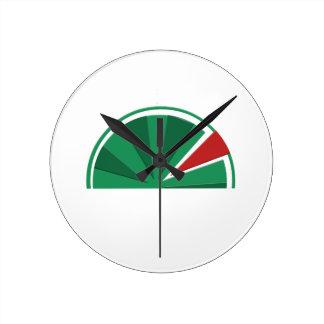 watermelon design round clock