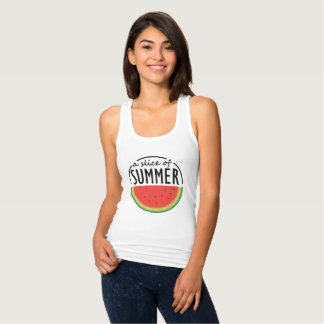 Watermelon design with catchy phrase. singlet