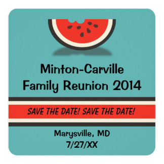 Watermelon Family Reunion Save the Date Card