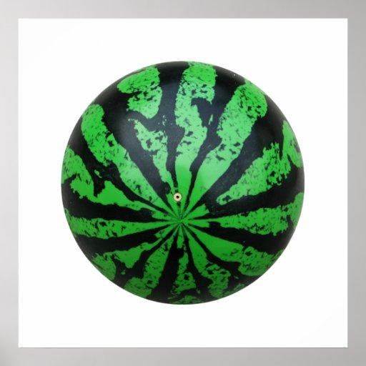 Watermelon Football / Soccer Ball Poster