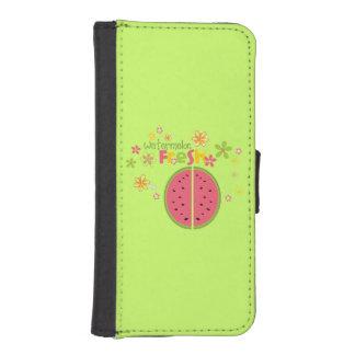 Watermelon Fresh Sweet Green iPhone 5 Wallet Cases