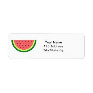 Watermelon fruit custom return address labels