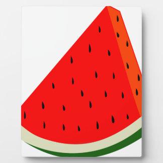 Watermelon Fruit harvest slice summer Plaque