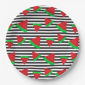 Watermelon Fruit Stripes Bold Paper Plates