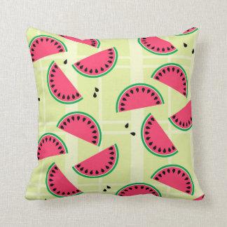 Watermelon, Fruit, Summer, Picnic, Melon, Yellow Cushion