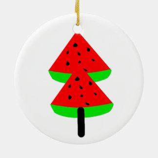 watermelon fruit tree ceramic ornament