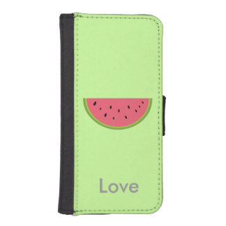Watermelon Fruits Personalized Green iPhone 5 Wallet Cases