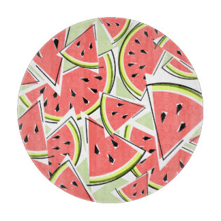 Watermelon Green cutting board round