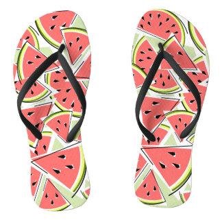 Watermelon Green flip flops