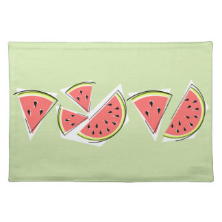 Watermelon Green Line placemat cloth