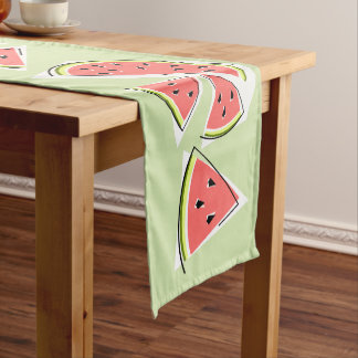 Watermelon Green Line table runner
