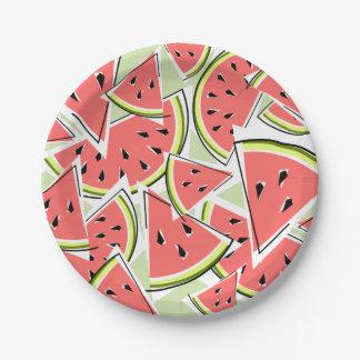 Watermelon Green paper plates