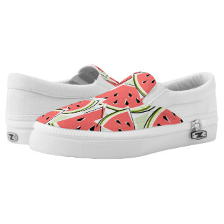 Watermelon green slip on shoes