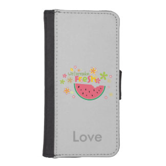 Watermelon Half Fruits Personalized Gray Phone Wallet Cases
