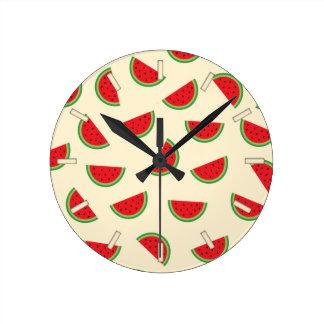 watermelon hello summer wall clock