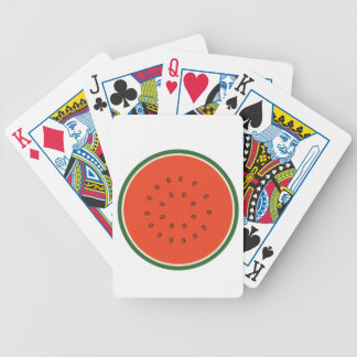 watermelon inside bicycle playing cards