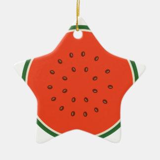 watermelon inside ceramic ornament