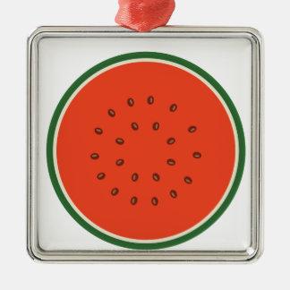 watermelon inside metal ornament