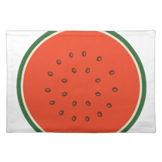 watermelon inside placemat