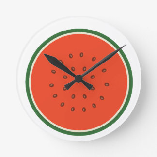 watermelon inside round clock