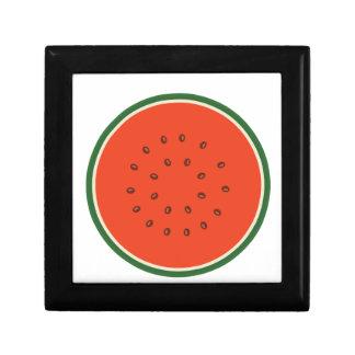 watermelon inside small square gift box