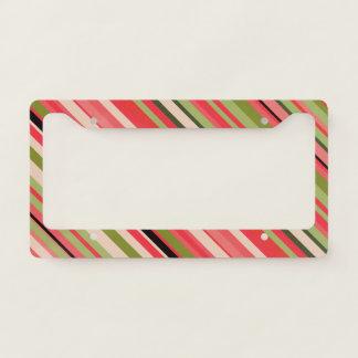 Watermelon-Inspired Stripes License Plate Frame