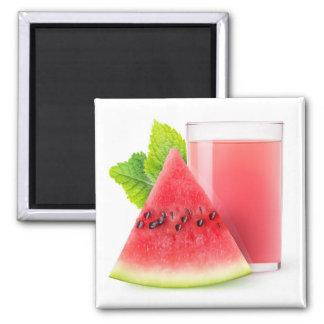 Watermelon juice square magnet