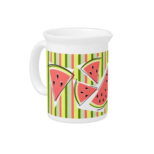Watermelon Line Stripe pitcher