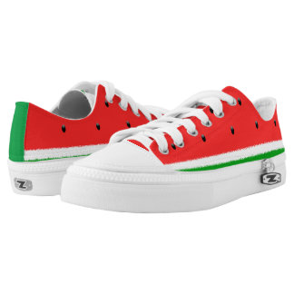 Watermelon low top shoes. printed shoes