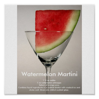 Watermelon Martini Poster