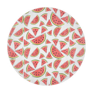 Watermelon Multi cutting board round