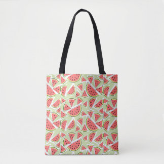 Watermelon Multi Green tote bag pink back
