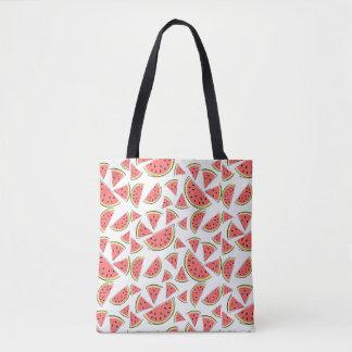 Watermelon Multi tote bag pink back