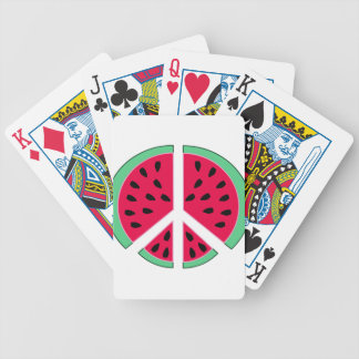 Watermelon of Peace Bicycle Playing Cards