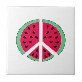Watermelon of Peace Ceramic Tile