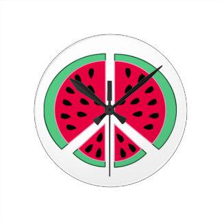 Watermelon of Peace Round Clock