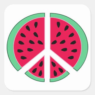 Watermelon of Peace Square Sticker