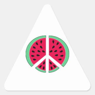 Watermelon of Peace Triangle Sticker