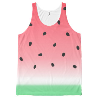 Watermelon Ombre Stripes All-Over Print Tank Top