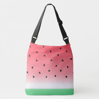 Watermelon Ombre Stripes Crossbody Bag